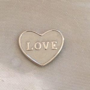Pandora Small Love Heart Locket Plate